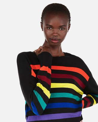 Express Striped Crew Neck Sweater