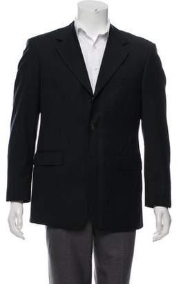 Balmain Wool Notched-Lapel Blazer
