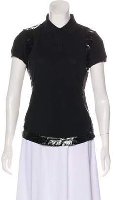 Givenchy Eel-Trimmed Short Sleeve Top
