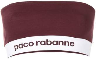 Paco Rabanne logo printed tube top