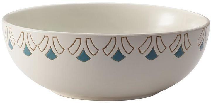 Rachael Ray Dinnerware Pendulum 10 in. Round Stoneware Serving Bowl in Print