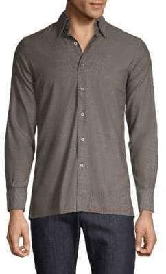 Canali Modern Fit Woven Sport Shirt