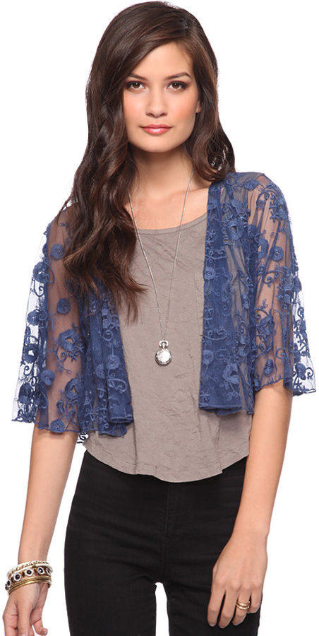 Forever 21 Beaded Lace Jacket