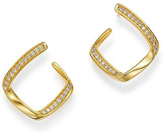 Bloomingdale's Diamond Twisted Front-Back Earrings in 14K Yellow Gold, 0.25 ct. t.w. - 100% Exclusive