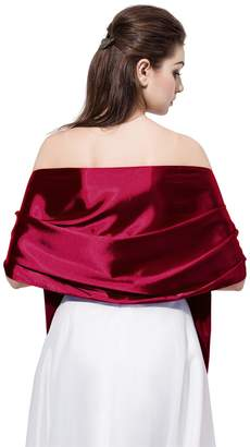 LD DRESS Bridal Party Evening/Wedding Satin Shawl Wrap with