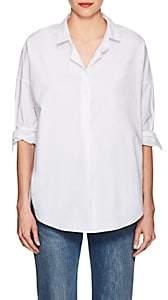 A Shirt Thing Women's Oversized Cotton Poplin Blouse - White Size 4
