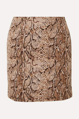 Reformation Oak Snake-print Stretch-jersey Mini Skirt - Snake print
