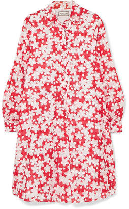 Paul & Joe Trotinne Floral-print Cotton Mini Dress - Red