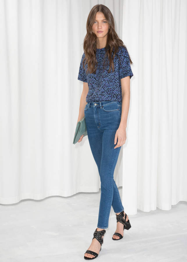 High-Waist Denim Jeans