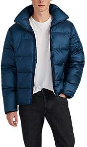 Barneys New York MEN'S QUILTED TECH-TAFFETA PUFFER COAT - BLUE SIZE M