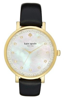 Women's Kate Spade New York 'Monterrey' Leather Strap Watch, 38Mm $225 thestylecure.com