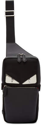 Fendi Black 'Bag Bugs' Single-Strap Backpack