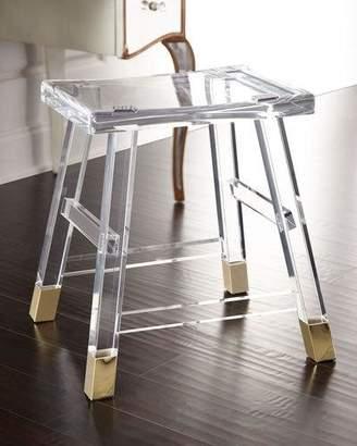 Interlude Home Dyer Acrylic Vanity Seat