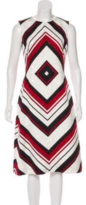 Dolce & Gabbana Geometric Print Midi A-Line Dress