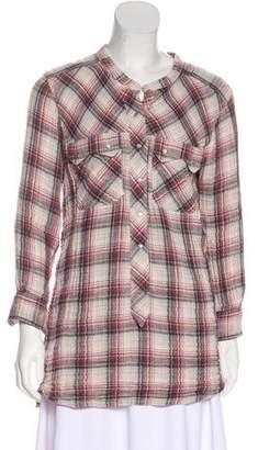 Etoile Isabel Marant Long Sleeve Plaid Tunic