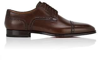 Christian Louboutin Men's Cousin Charles Flat Leather Bluchers