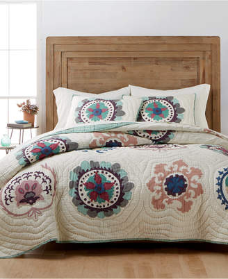 Martha Stewart Collection Mystical Suzani Reversible Full/Queen Quilt, Created for Macy's