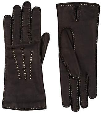 979cb8a35cb89 Barneys New York Women's Cashmere-Lined Leather Gloves - Black