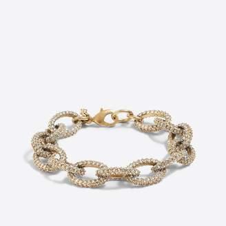 J.Crew Gold and crystal link bracelet