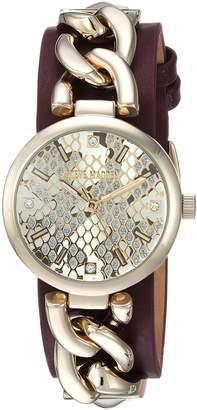 Steve Madden Women's Quartz Casual Watch, Color:-Toned (Model: SMW049G-BU)