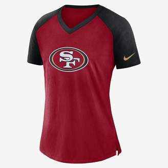 Nike V-Neck (NFL 49ers) Women's Short Sleeve Top