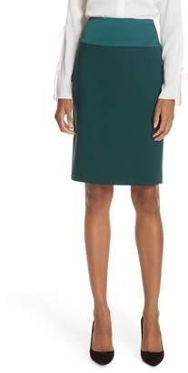 BOSS Vanufa Stretch Wool Suit Skirt