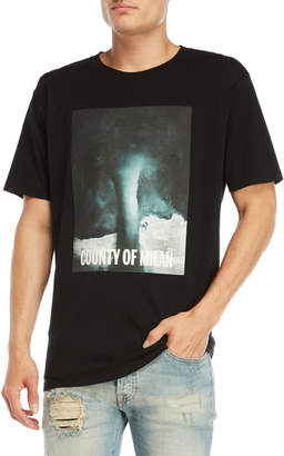 Marcelo Burlon County of Milan Black Nepen Graphic Tee