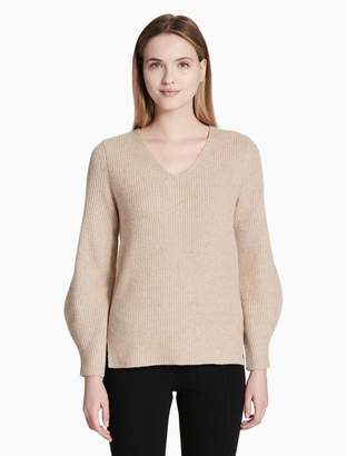 Calvin Klein v-neck balloon sleeve sweater