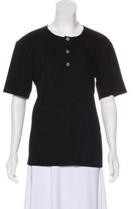 Balenciaga Suede Short Sleeve T-Shirt