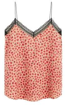 MANGO Flowered lace top
