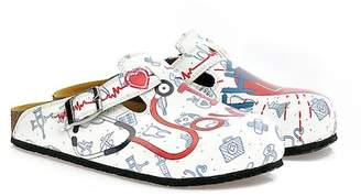 Calceo Hand Painted Leather Clog