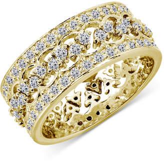 Giani Bernini 2-Pc. Set Cubic Zirconia Interlocking Crown Statement Ring in 18k Gold-Plated Sterling Silver