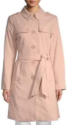 Kate Spade Patchwork Spread Collar Raincoat