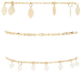 Forever 21 Faux Pearl & Filigree Bracelet Set
