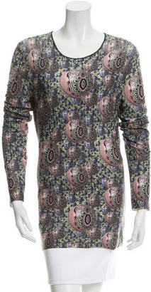 Jean Paul Gaultier Printed Long Sleeve Top $85 thestylecure.com