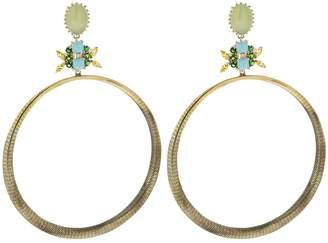 Iosselliani Agate Hoop Earrings