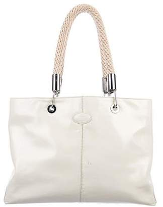 Tod's Patent Leather Shoulder Tote