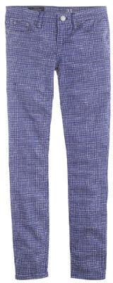 J.Crew Toothpick jean in basket-weave print