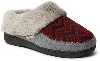 Dearfoams Women's Knit And Microwool Clog Slippers