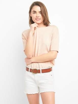 d349966798cc7 Softspun Elbow-Length Sleeve Round Neck T-Shirt