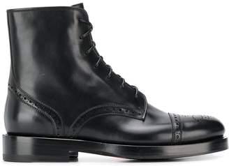 Santoni Combat lace-up boots