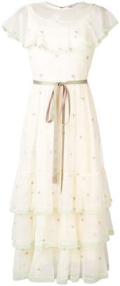 RED Valentino point d'esprit embroidered tulle dress