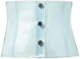 Tibi PVC Light Blue Corset Belt