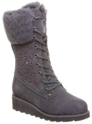 BearPaw Kylie Faux Fur & Genuine Sheepskin Lined Wedge Boot (Little Kid & Big Kid)