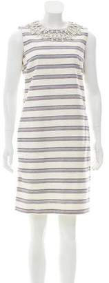 Tory Burch Striped Sheath Dress