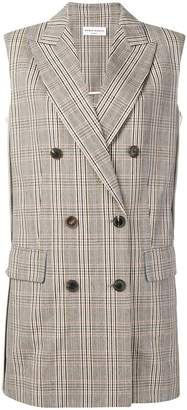 Sonia Rykiel checked double-breasted vest