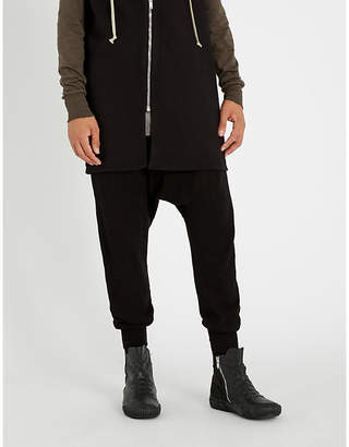 Rick Owens Prisoner dropped-crotch cotton-knitted jogging bottoms