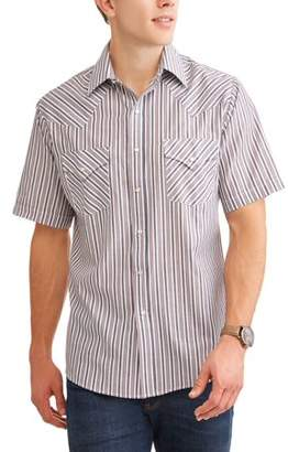 Plains Mens Short Sleeve Stripe Western