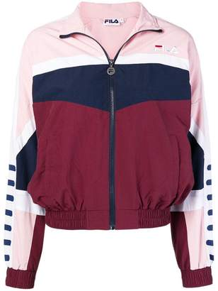 Fila colour-block zipped jacket