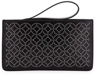 Alaia Arabesque Studded Zip-Top Pouch